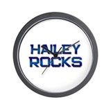 hailey rocks Wall Clock