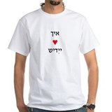 &amp;quot;I Love Yiddish&amp;quot; (in Yiddish) White Adul