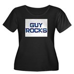 guy rocks Women's Plus Size Scoop Neck Dark T-Shir