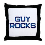 guy rocks Throw Pillow