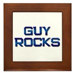 guy rocks Framed Tile