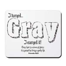 Gray Hair Mousepad