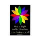 God is Light Rectangle Magnet