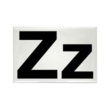 Helvetica Zz Rectangle Magnet