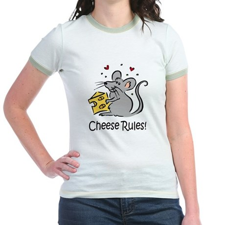 Cheese Rules Jr. Ringer T-Shirt