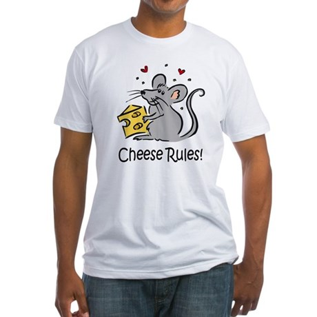 Cheese Rules Fitted T-Shirt