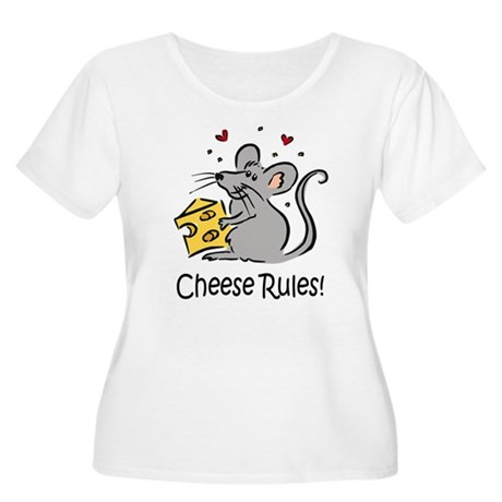 Cheese Rules Women's Plus Size Scoop Neck T-Shirt
