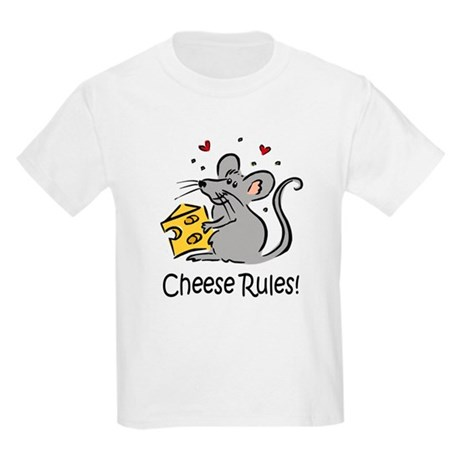 Cheese Rules Kids Light T-Shirt
