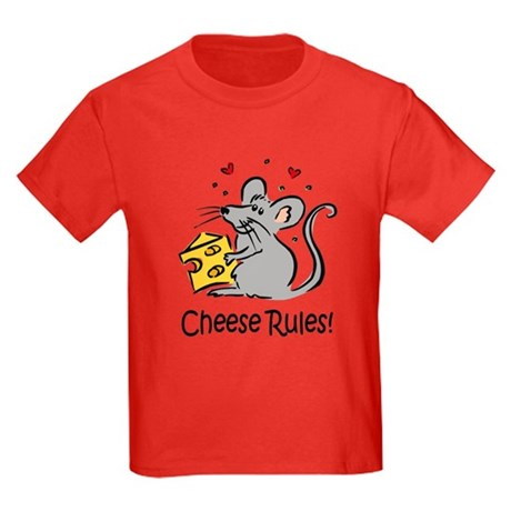 Cheese Rules Kids Dark T-Shirt