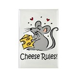 Cheese Rules Rectangle Magnet (100 pack)