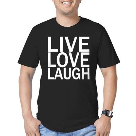 Live Love Laugh Men's Fitted T-Shirt (dark)
