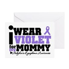 I Wear Violet For Mommy Greeting Cards (Pk of 20)