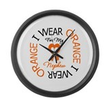 IWearOrange Nephew Large Wall Clock