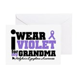 I Wear Violet For Grandpa Greeting Cards (Pk of 10