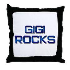 gigi rocks Throw Pillow
