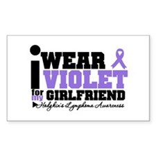I Wear Violet For Girlfriend Rectangle Decal