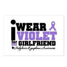 I Wear Violet For Girlfriend Postcards (Package of
