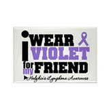 I Wear Violet For Friend Rectangle Magnet