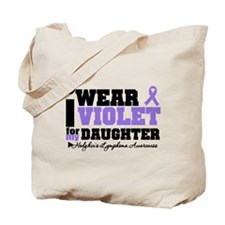 I Wear Violet For Daughter Tote Bag