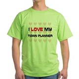 I Love My Town Planner T-Shirt