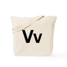 Helvetica Vv Tote Bag
