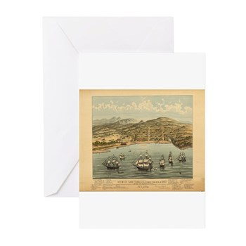 Antique Maps Greeting Cards (Pk of 20)