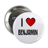 "I LOVE BENJAMIN 2.25"" Button (100 pack)"