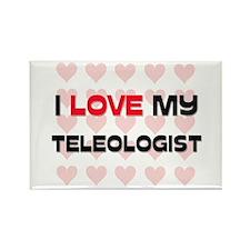I Love My Teleologist Rectangle Magnet