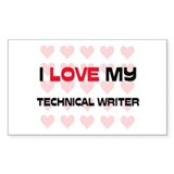 I Love My Technical Writer Rectangle Decal