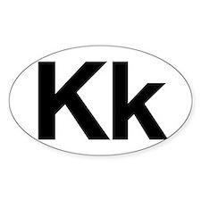 Helvetica Kk Oval Decal