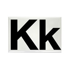 Helvetica Kk Rectangle Magnet