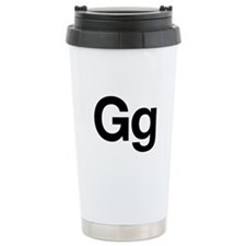 Helvetica Gg Ceramic Travel Mug