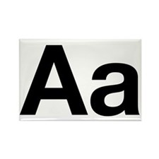 Helvetica Aa Rectangle Magnet