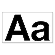 Helvetica Aa Rectangle Decal