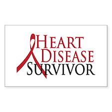 Heart Disease Survivor (2009) Rectangle Decal