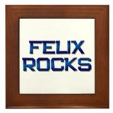 felix rocks Framed Tile