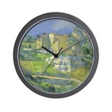 Cezanne Houses in Provence Wall Clock