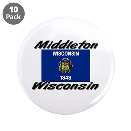 "Middleton Wisconsin 3.5"" Button (10 pack)"