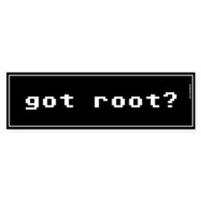 Got Root Bumper Bumper Sticker