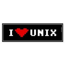 I Love Unix Bumper Bumper Sticker