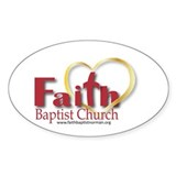 Faith Baptist Oval Decal