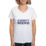 everett rocks Women's V-Neck T-Shirt