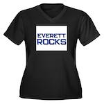 everett rocks Women's Plus Size V-Neck Dark T-Shir