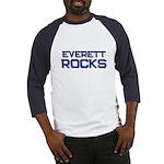everett rocks Baseball Jersey