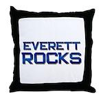 everett rocks Throw Pillow