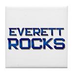 everett rocks Tile Coaster