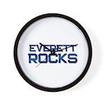 everett rocks Wall Clock