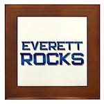 everett rocks Framed Tile