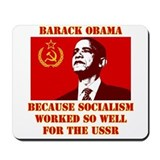 Cute Obama socialist Mousepad