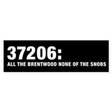 37206: All the Brentwood none Bumper Sticker
